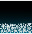 Black background with diamonds vector image vector image