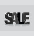 black sale sign vector image vector image