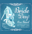 bridal shower invitation card with beautiful lace vector image