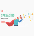 character spread knowledge and ideas landing page vector image vector image