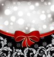 Christmas floral background ornamental design vector image vector image