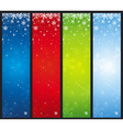 color christmas banners with snowflakes vector image vector image