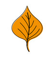 color plant leaf design to natural icon vector image