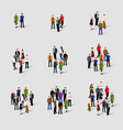 different groups of people social network vector image vector image