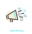 Digital marketing concept vector image vector image