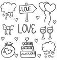 doodle of element wedding style art vector image vector image