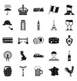 england icons set simple style vector image vector image