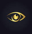 eye vision icon gold logo vector image vector image