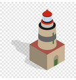 falsterbo lighthouse sweden isometric icon vector image