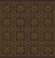 gold art deco vintage fashion seamless pattern vector image vector image
