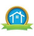 Gold building logo vector image