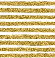 Golden glitter texture line on white background vector image