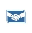 handshake business logo vector image vector image