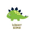 happy dino cute dinosaur vector image vector image