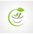 herbal medicine bio logo vector image