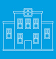 hospital building icon outline style vector image vector image