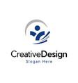 Human agency development creative logo