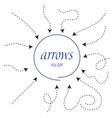 infographic arrows dynamic arrow symbol vector image vector image