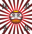 japan warrior doll vector image