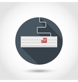 Keyboard with red button Add to Shopping Cart vector image