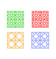 large square window frame with islamic pattern vector image vector image