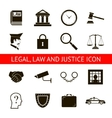 Law Legal Justice Icons and Symbols Isolated vector image vector image