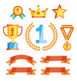 leader icons set vector image vector image