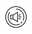 line art volume up sound icon vector image vector image