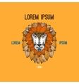 Lion head logo in boho style vector image vector image
