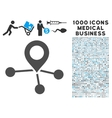 Locations Icon with 1000 Medical Business vector image vector image
