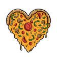 love pizza vector image