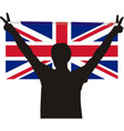 Man with flag of United Kingdom vector image vector image