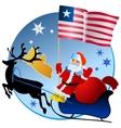 Merry Christmas Liberia vector image vector image