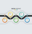 navigation map infographic 5 steps timeline vector image vector image