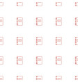 notepad icon pattern seamless white background vector image vector image