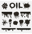 Oil or petroleum splat collection vector image vector image