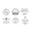original mexican logos for restaurants vector image vector image