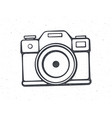 outline retro photo camera vector image vector image