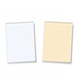 Paper Notebook Isolated on White Background vector image vector image