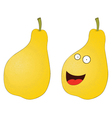 Pear cartoon vector image