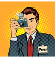 Photographer Paparazzi Reporter with Camera vector image vector image