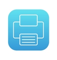 Printer line icon vector image vector image
