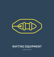 rafting kayaking flat line icon vector image