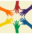 Rainbow hand vector image vector image