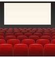 Red seats with blank screen vector image
