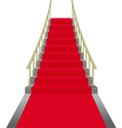 red stairs vector image