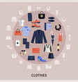 round clothes composition vector image vector image