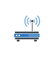 router related glyph icon vector image vector image
