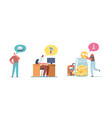 set male and female characters dream to travel vector image vector image
