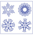 set of abstract sacred geometry symbols vector image